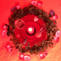 Tente rouge Bruyères-le-Châtel