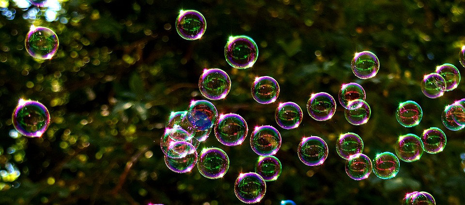 Plusieurs bulles de savon