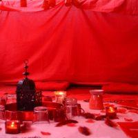 Tente rouge © Doulas de France